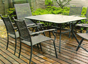 Mesas para patio juego de mesa y sillas para terraza y for Sillones de patio