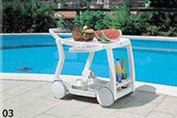 carro bar de jardin para exterior muebles de resina